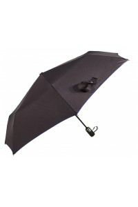 Paraguas con ribete azul...