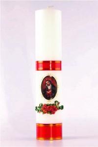 Vela de altar mariana [O-12]