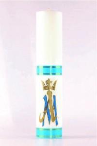 Vela de altar mariana [O-19]