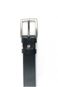 Cinturón de piel negra con...