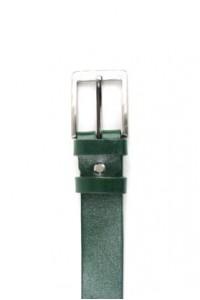 Cinturón de piel verde con...