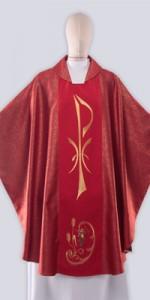 Casullas rojas con bordado - Casullas - IndumentariaLiturgica.es