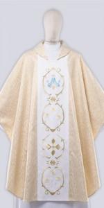 Casullas marianas con bordado - Casullas - IndumentariaLiturgica.es