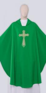 Casullas verdes con bordado - Casullas - IndumentariaLiturgica.es