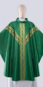 Casullas verdes con adorno - Casullas - IndumentariaLiturgica.es