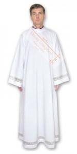 Alba con adorno - Albas para sacerdotes - IndumentariaLiturgica.es